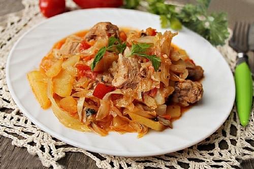 Свинина с Картошкой в Мультиварке | Тушеная картошка с мясом в мультиварке | Картофель тушеный со свининой в мультиварке