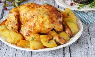 Курица с картошкой запеченные в духовке