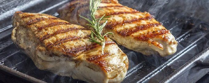 Филе куриной грудки на сковороде