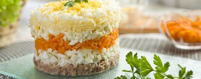 Классический салат мимоза
