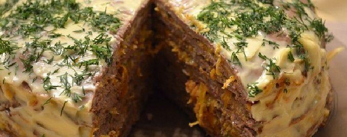 Печеночный торт - 10 самых вкусных рецептов с фото пошагово