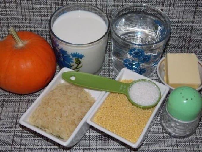 Пшенная каша с тыквой на молоке — 8 пошаговых рецептов