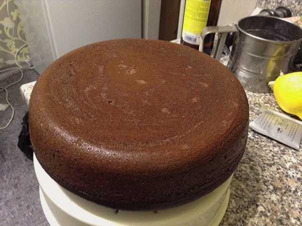 Вкусный шоколадный бисквит