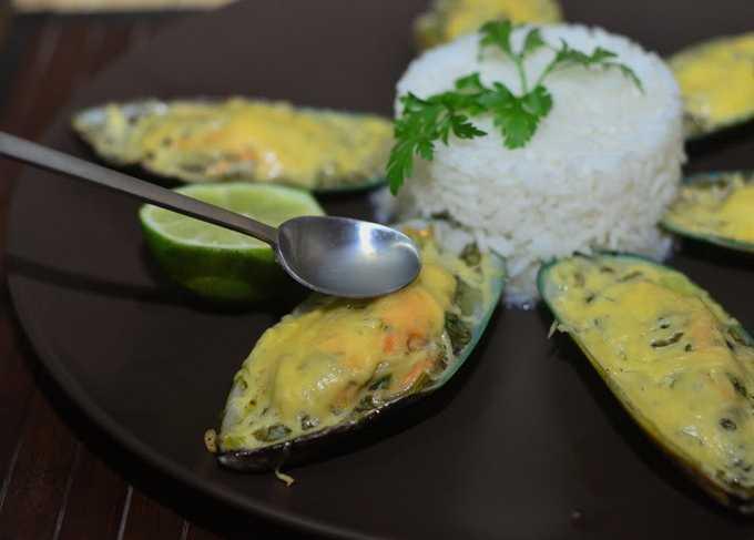 Мидии в сливочно-чесночном соусе | ТОП рецептов с пошаговыми фото | Мидии в сливочном соусе
