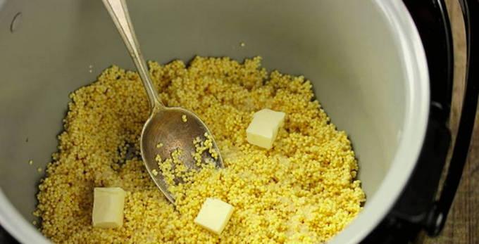 Пшенная каша на воде - рецепты с молоком, сахаром, тыквой и сухофруктами